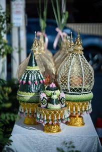 จัดงานแต่งงาน พิธีไทย ธีมสีเขียว
