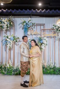 จัดงานแต่งงาน พิธีไทย ธีมสีฟ้า