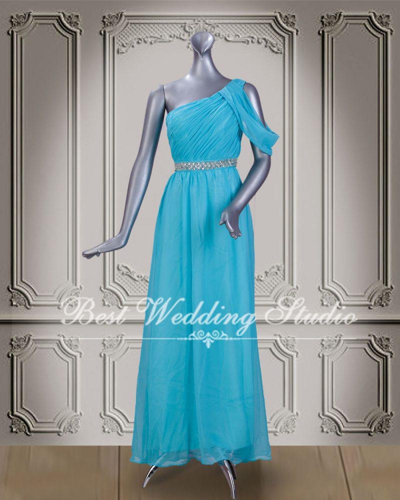 ชุดราตรียาว สีฟ้า W10539