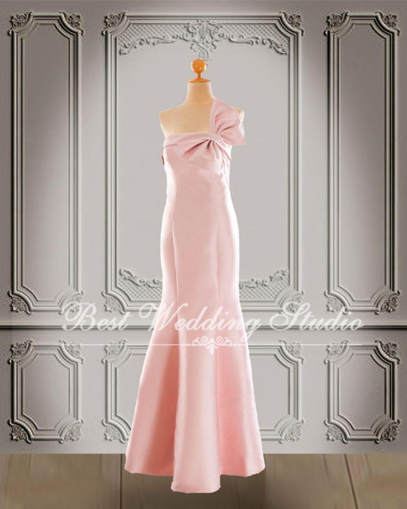 ชุดไปงานแต่ง สีชมพู W10709